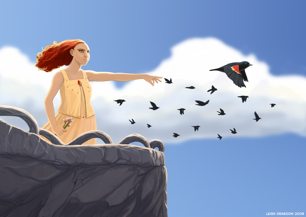 http://www.leighdragoon.com/images/illustrations/Mistress_of_Birds_6.jpg