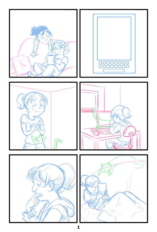 Me and My Kindle: Page 1 - Pencils