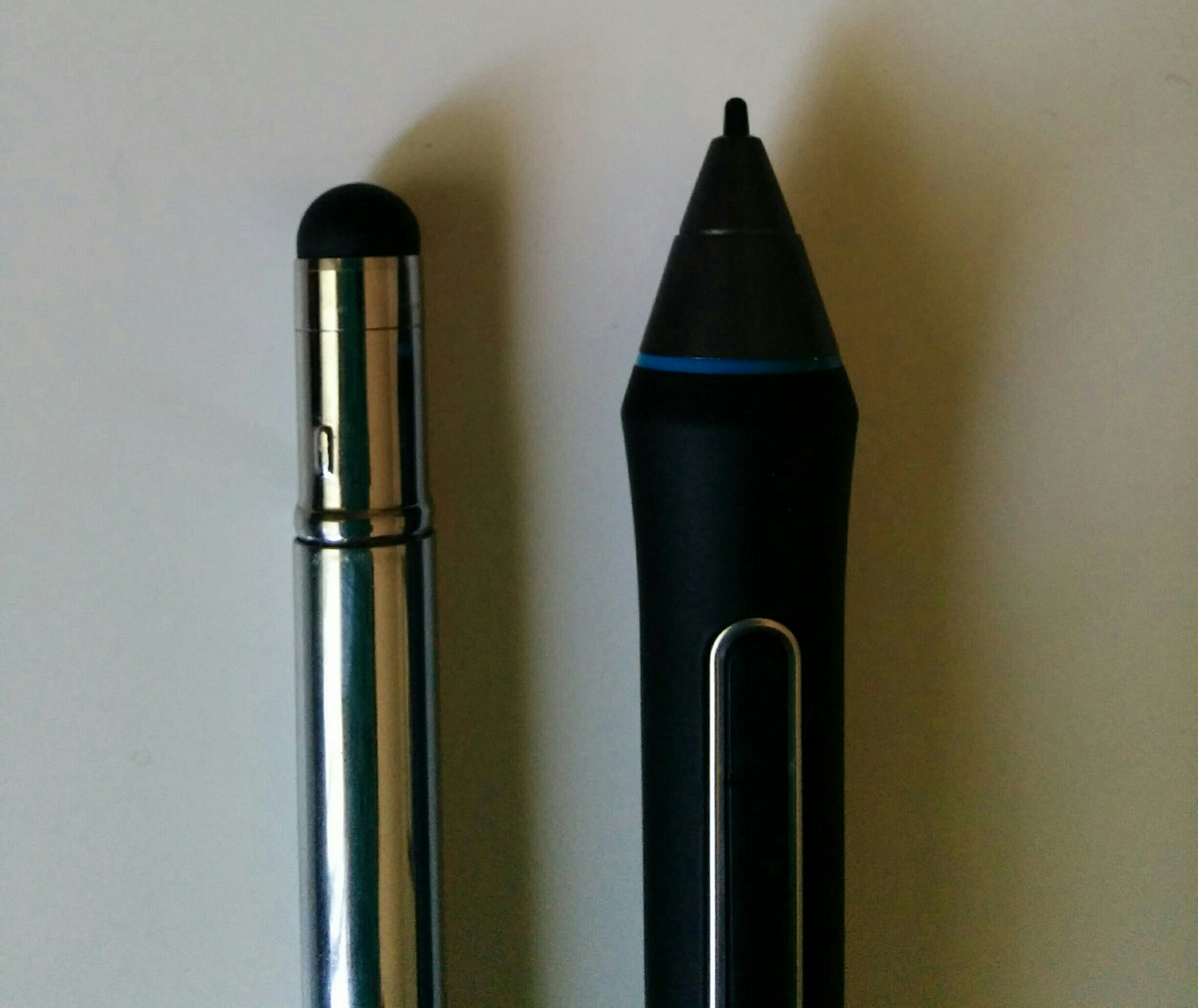 Sensu tip size compared to a Cintiq stylus